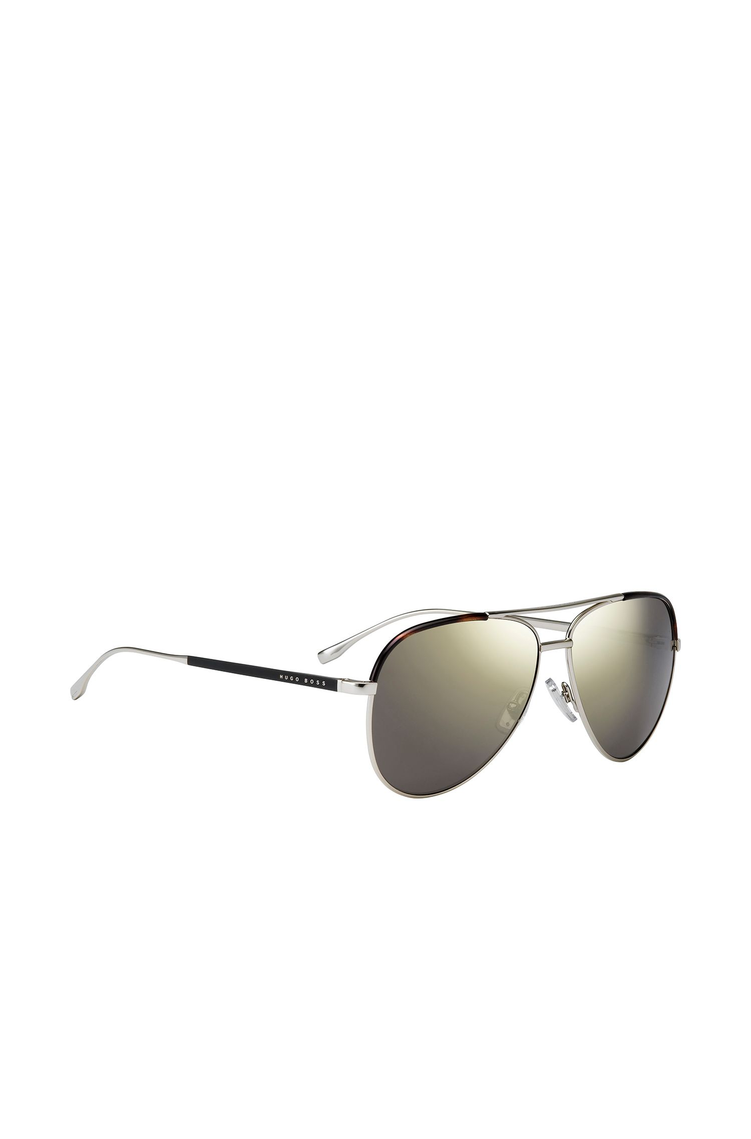 Pilot sunglasses with gold-coloured metal frames: 'BOSS 0782/S'