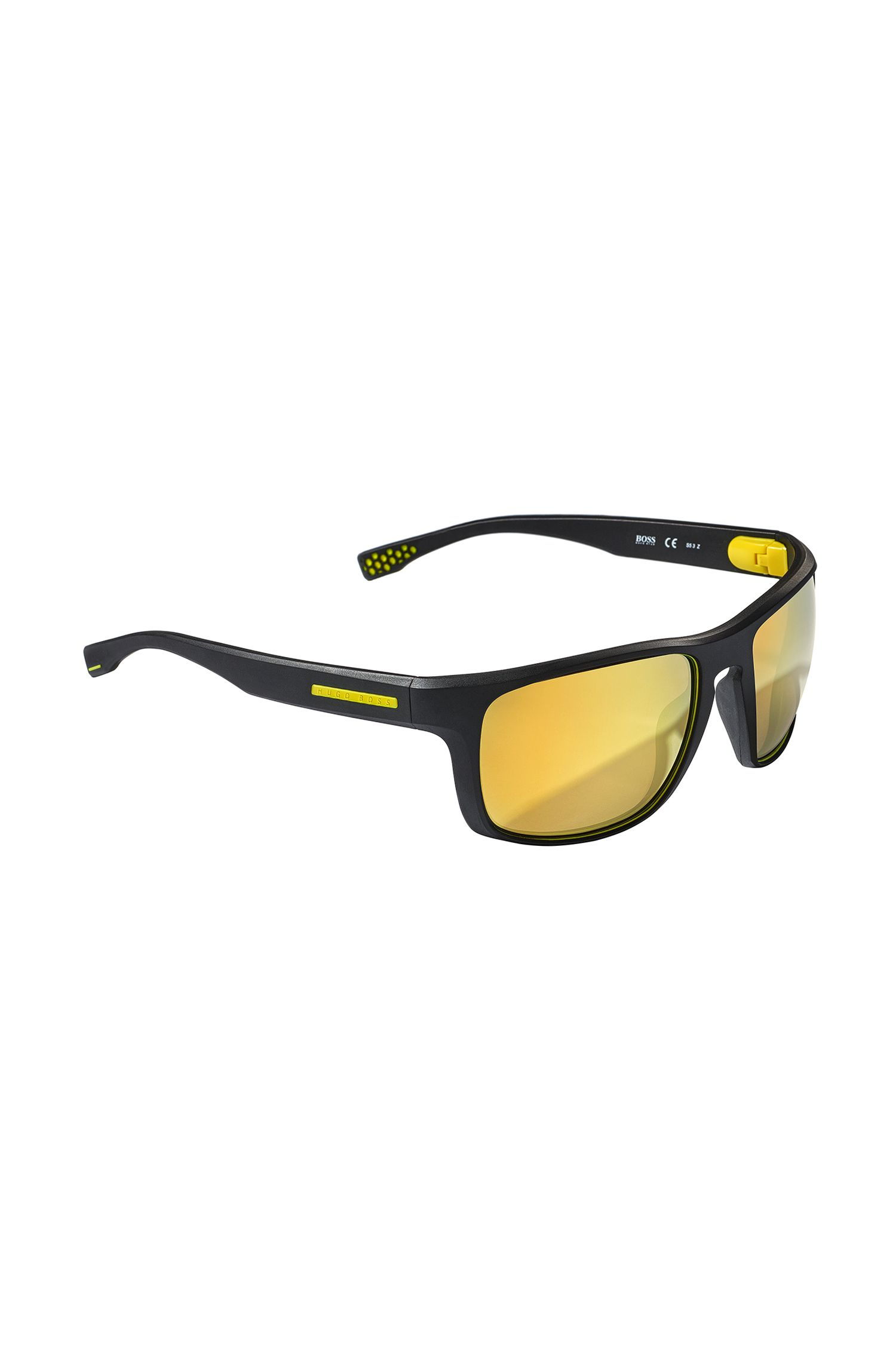 Sporty sunglasses with patterned synthetic frames: 'BOSS 0800/S'
