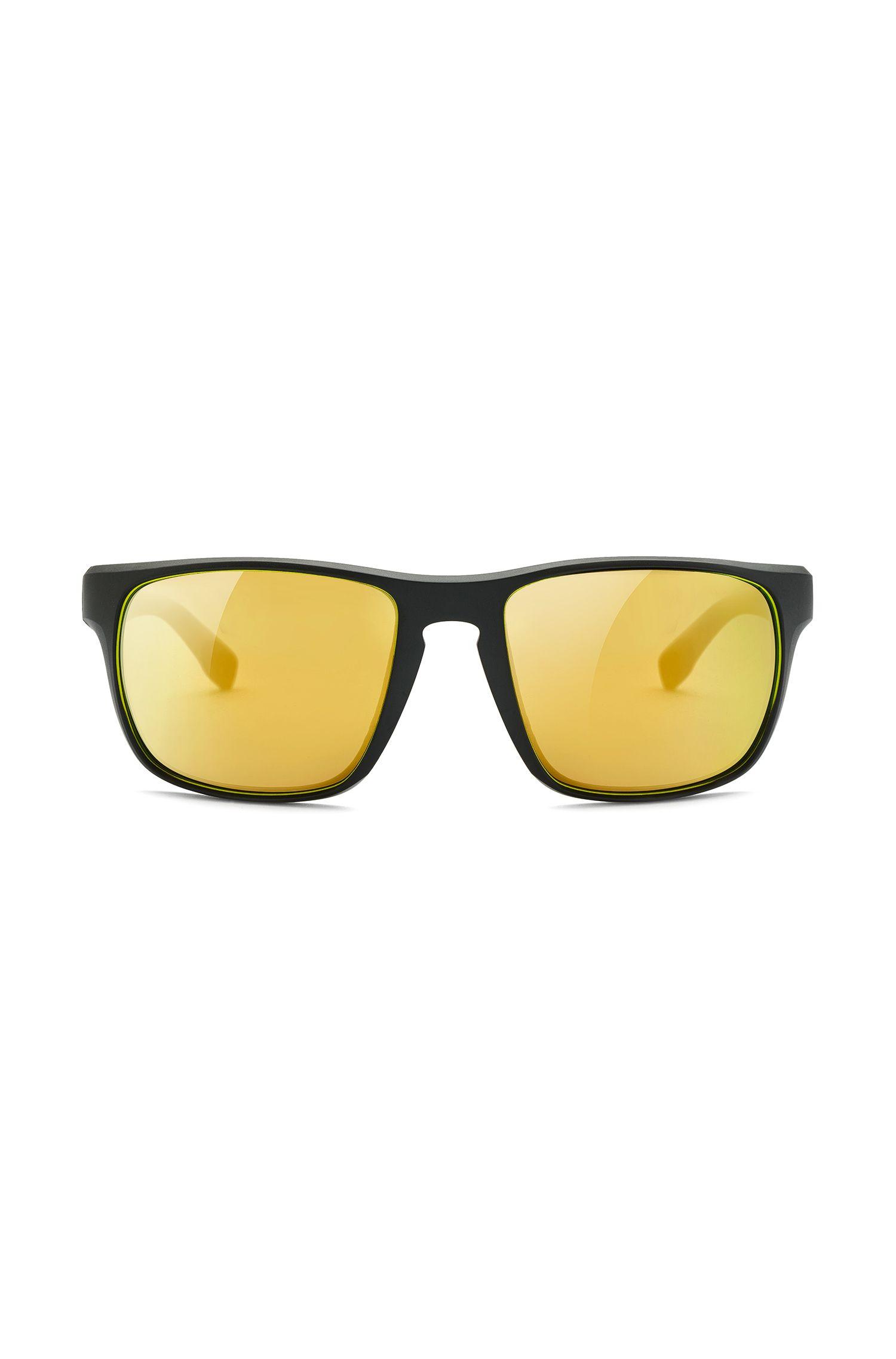 Sportieve zonnebril met kunststof montuur met dessin: 'BOSS 0800/S'