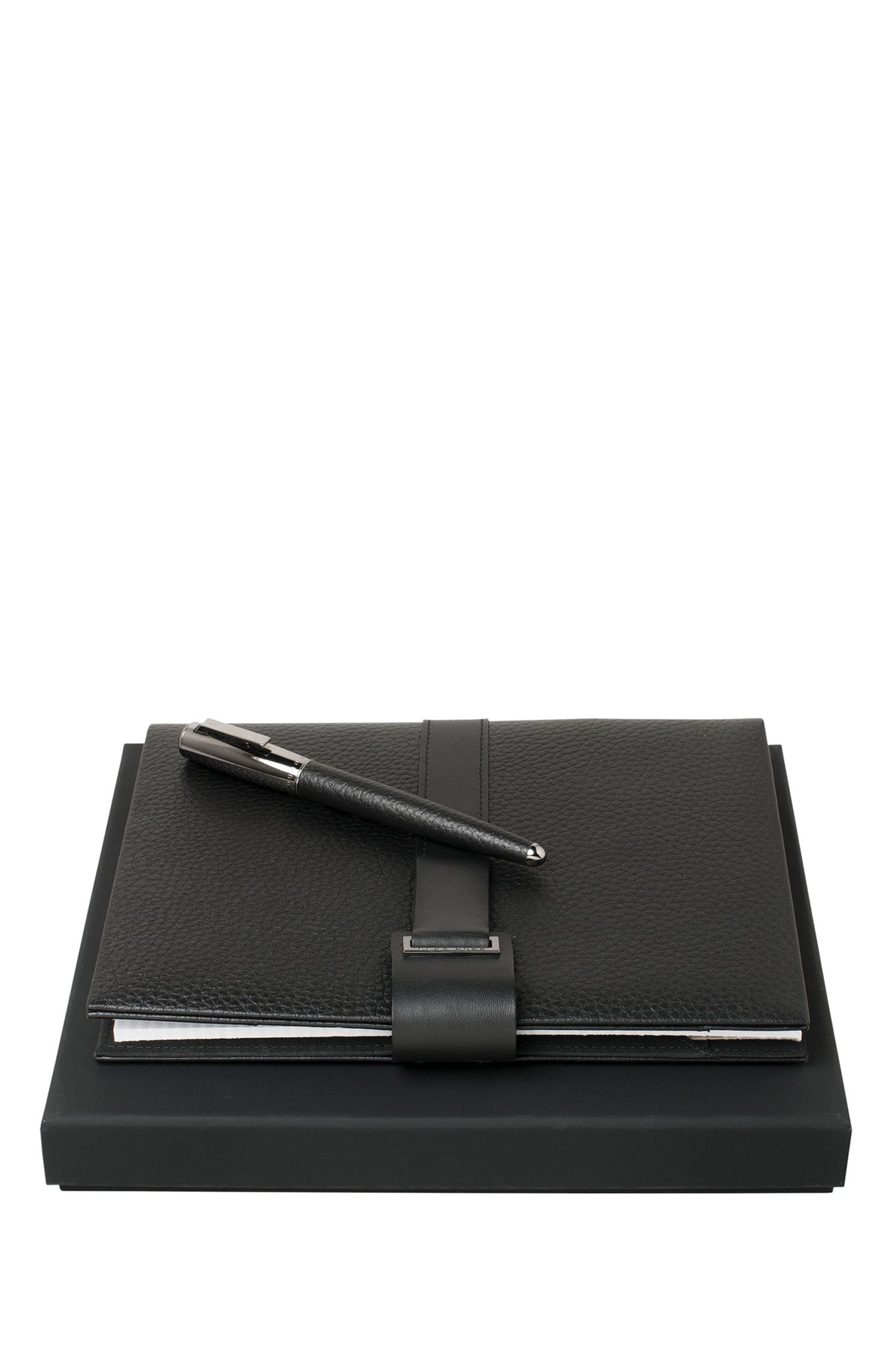 Set comprising a notepad and rollerball pen: 'Verse Shell'