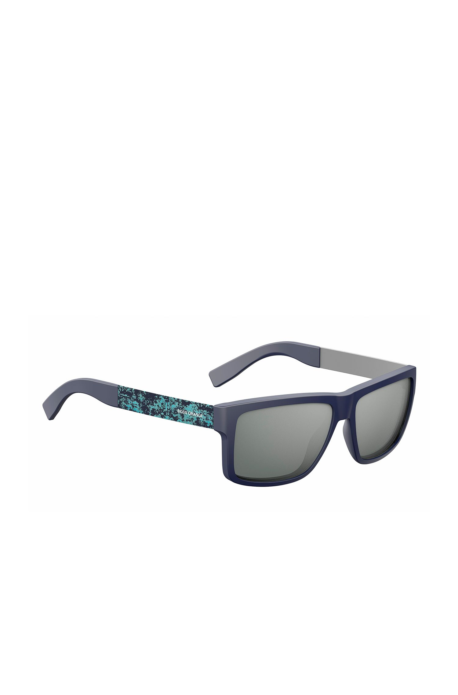 Blue sunglasses in acetate and stainless steel: 'BOSS 0838/S'
