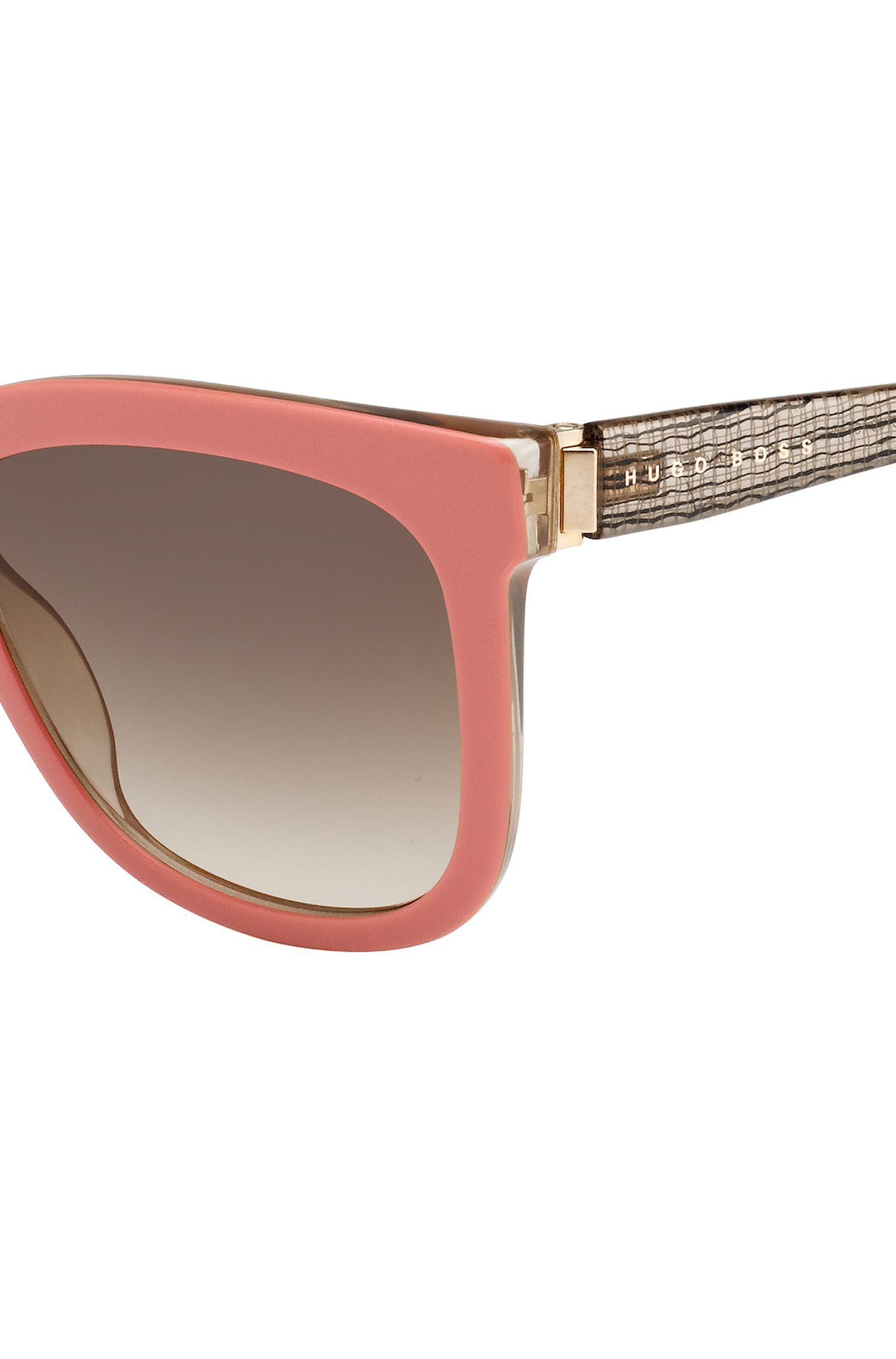 Sonnenbrille mit Vollrandfassung und transparenten Bügeln: 'BOSS 0850/S'