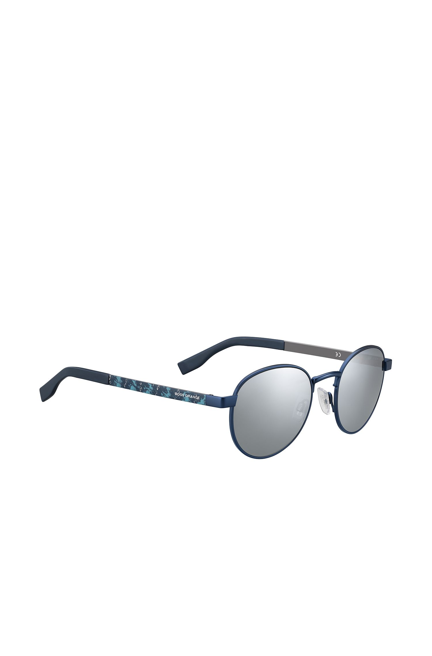Sunglasses with metal frames and patterned temples: 'BO 0269/S'