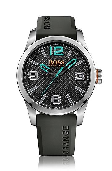 Quarz-Armbanduhr mit Silikonarmband: 'PARIS', Assorted-Pre-Pack