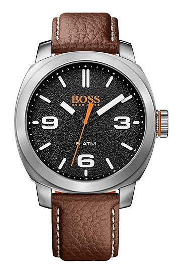 Quarz-Armbanduhr mit Drei-Zeiger-Werk und Lederarmband: 'CAPE TOWN', Assorted-Pre-Pack