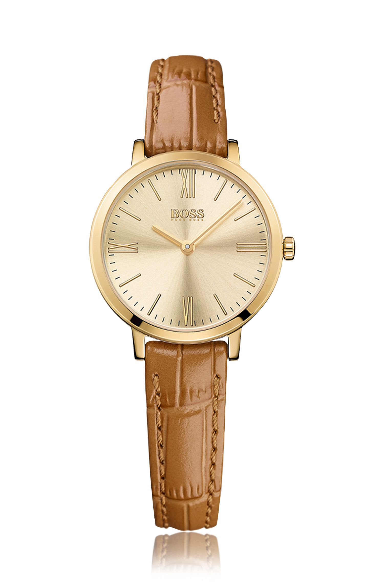 Armbanduhr mit vergoldetem Edelstahlgehäuse: 'Jillian'