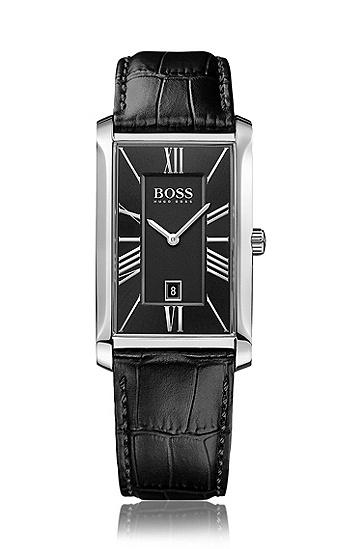 Zwei-Zeiger-Uhr mit geprägtem Lederamband und Datumsanzeige: 'Admiral', Assorted-Pre-Pack