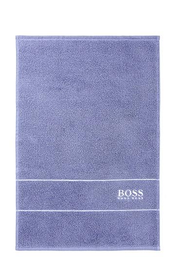 Gästehandtuch ´PLAIN` mit gewebten Abschlussblenden, Blau