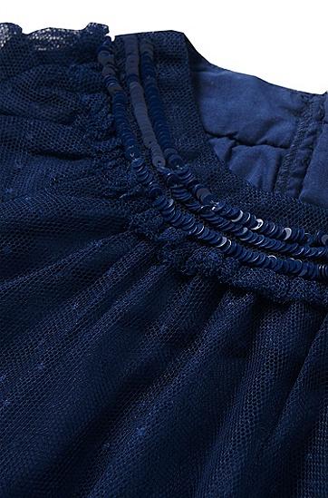 Baby-Kleid mit Pailletten-Applikation: 'J12151', Dunkelblau