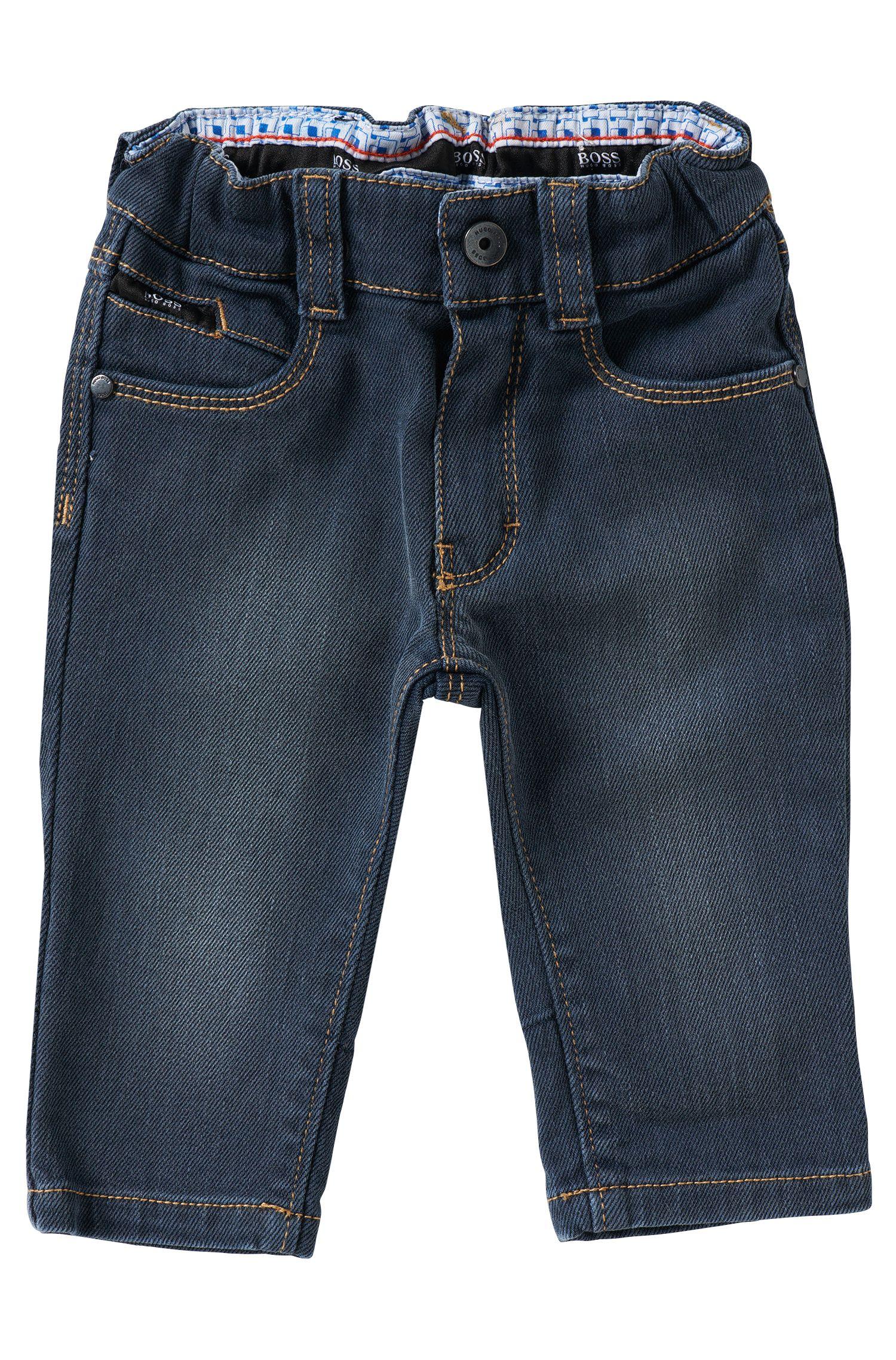 Jeans pour enfant en coton mélangé: «J04204»