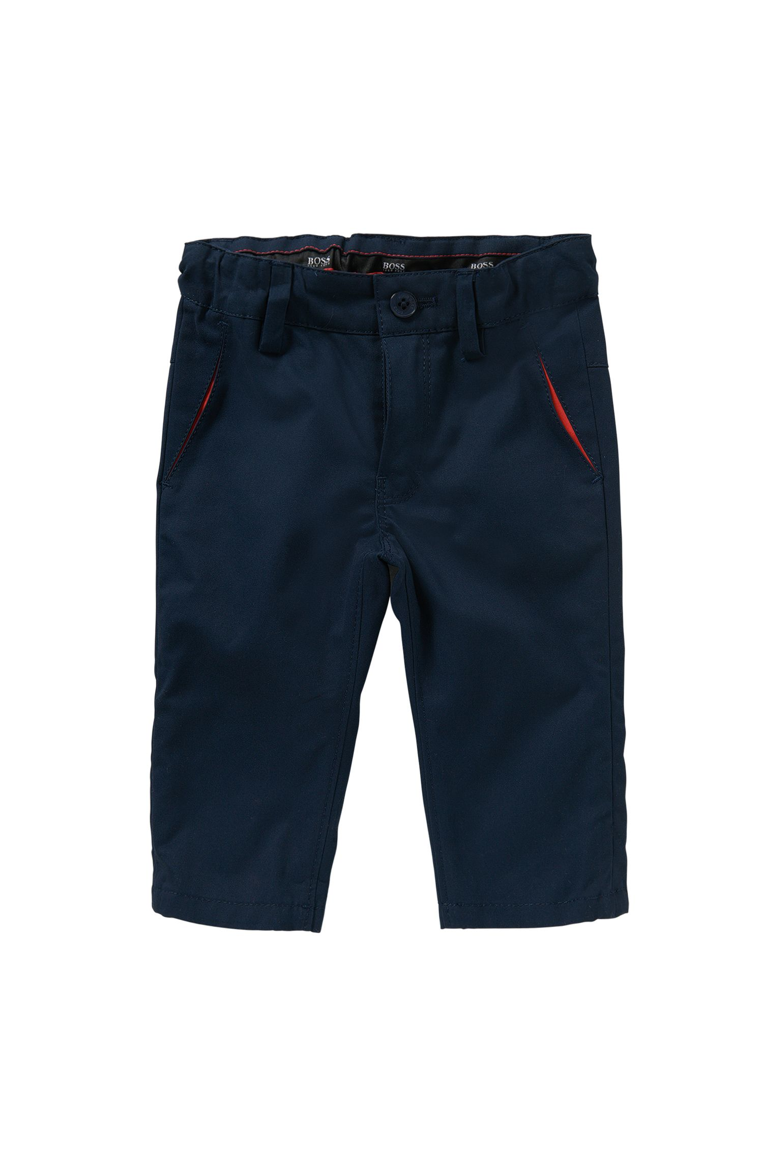 Newborns' trousers in cotton: 'J04227'
