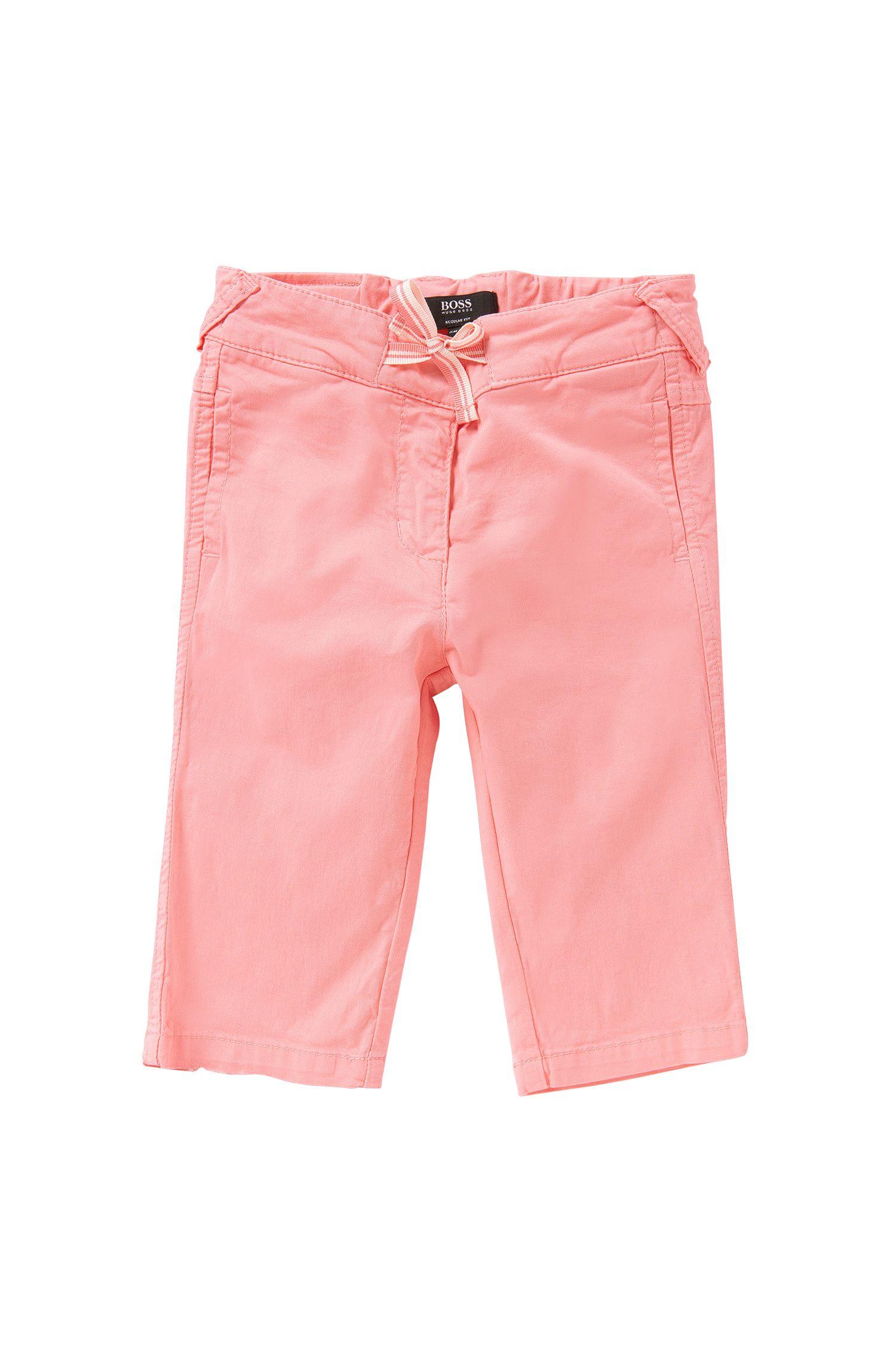 Pantalón para bebé en algodón elástico con cinta para anudar decorativa: 'J04232'
