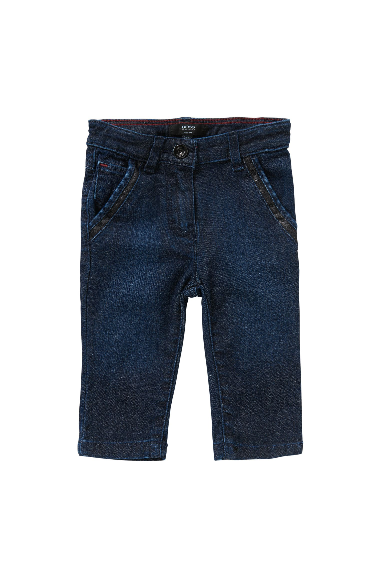 Slim-fit newborns' jeans in cotton blend: 'J04234'