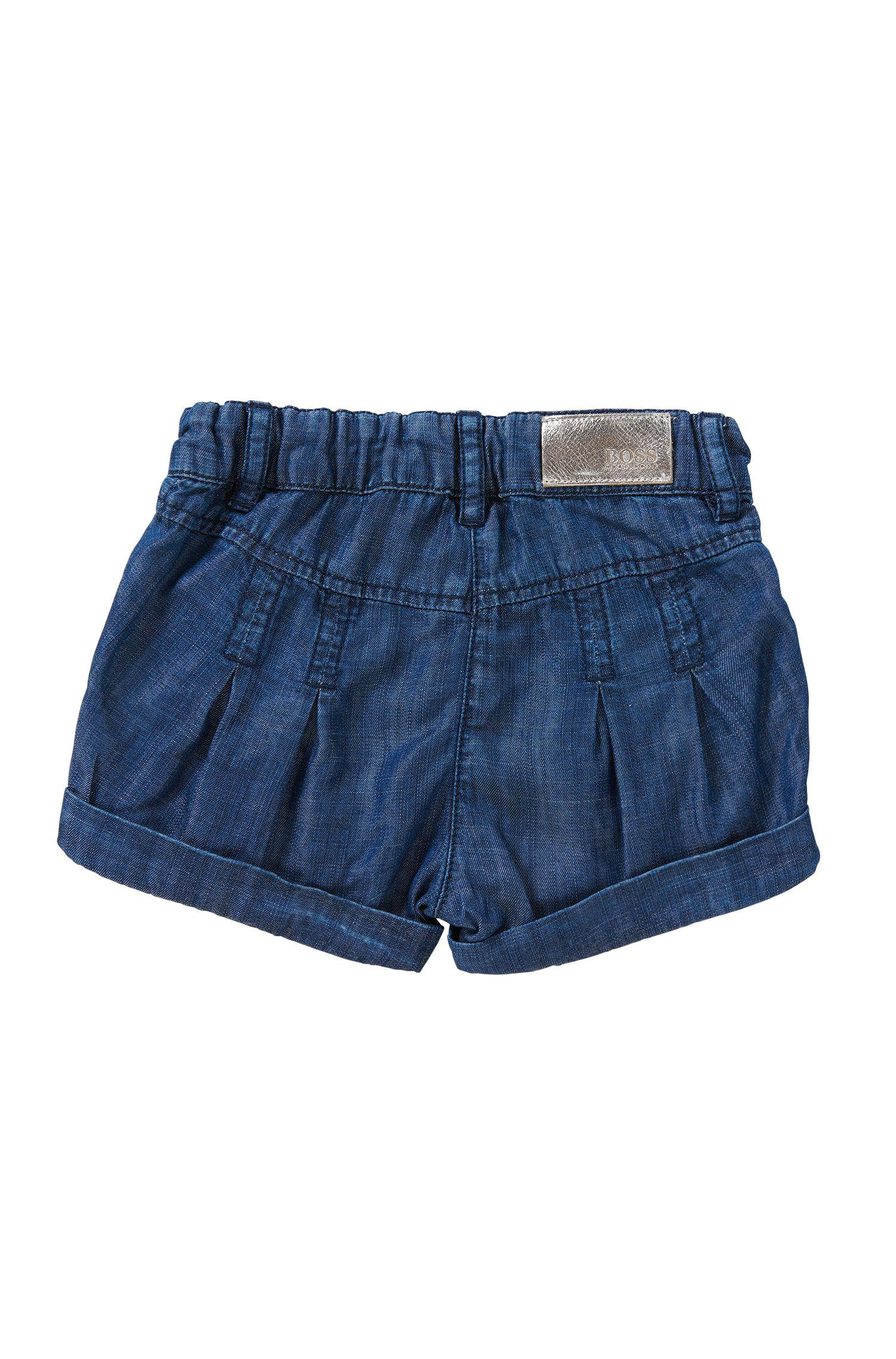 Regular-Fit Baby-Shorts in Denim-Optik mit Elastikbund: 'J04236'