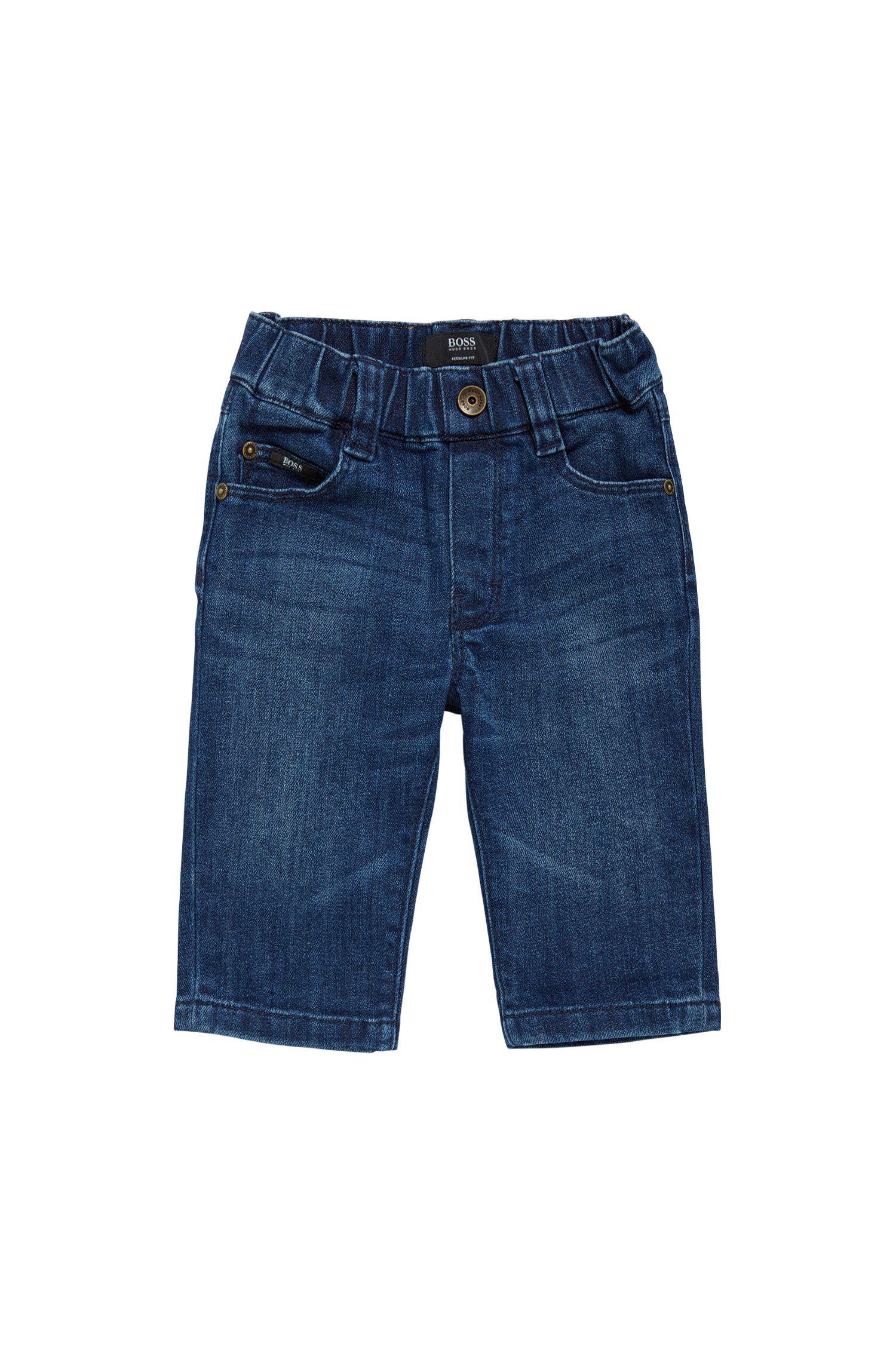 Jeans Regular Fit pour bébé en coton: «Alabama»