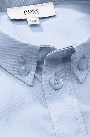Kids-Hemd ´J05318` aus Baumwolle, Hellblau