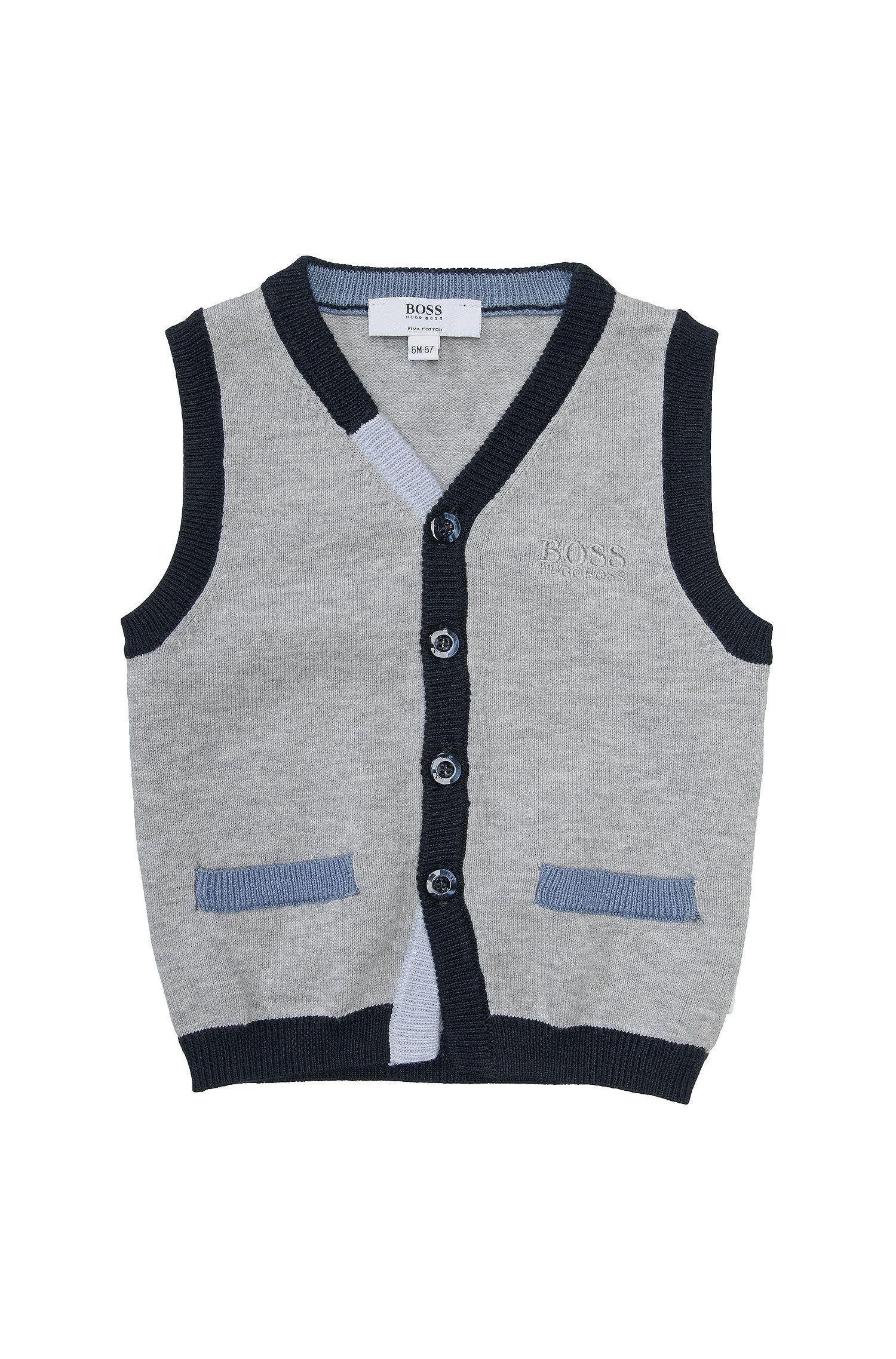 Veste à mailles pour enfants «J05320» en coton