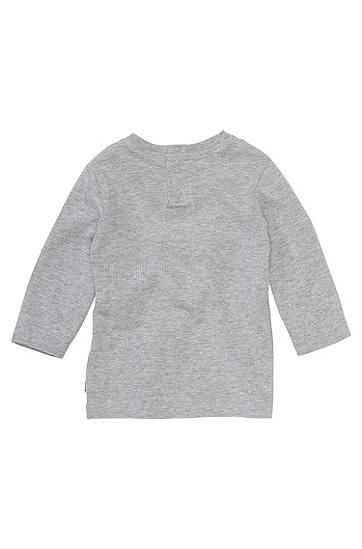 Kids-Longsleeve ´J05325` aus Baumwolle, Hellgrau