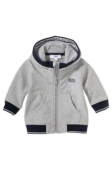 Kids-Kapuzen-Sweatshirt-Jacke ´J05358` aus Baumwoll-Mix, Grau