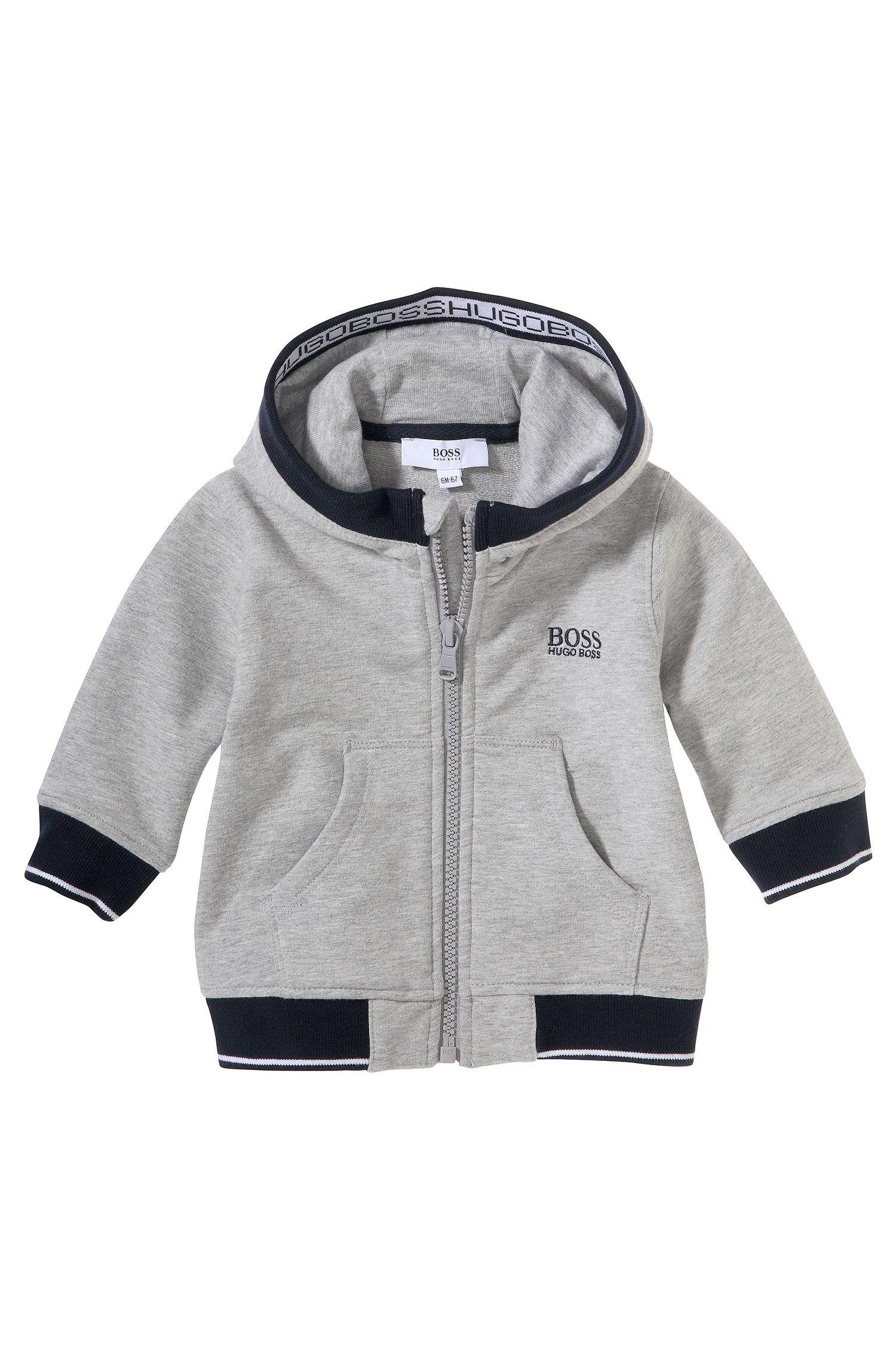 Sweatshirtjas met capuchon voor kinderen 'J05358' van een katoenmix