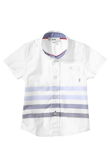 Kids-Hemd ´J05364` mit Button-down-Kragen, Weiß