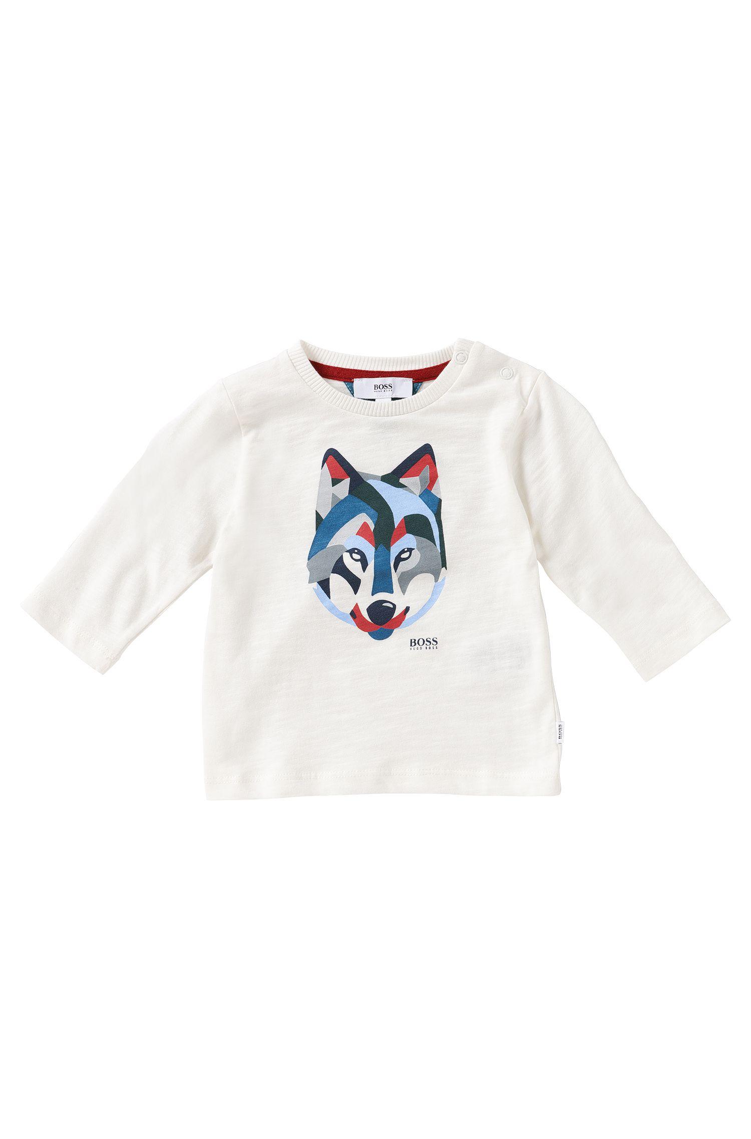 T-shirt manches longues pour enfant en coton: «J05395»