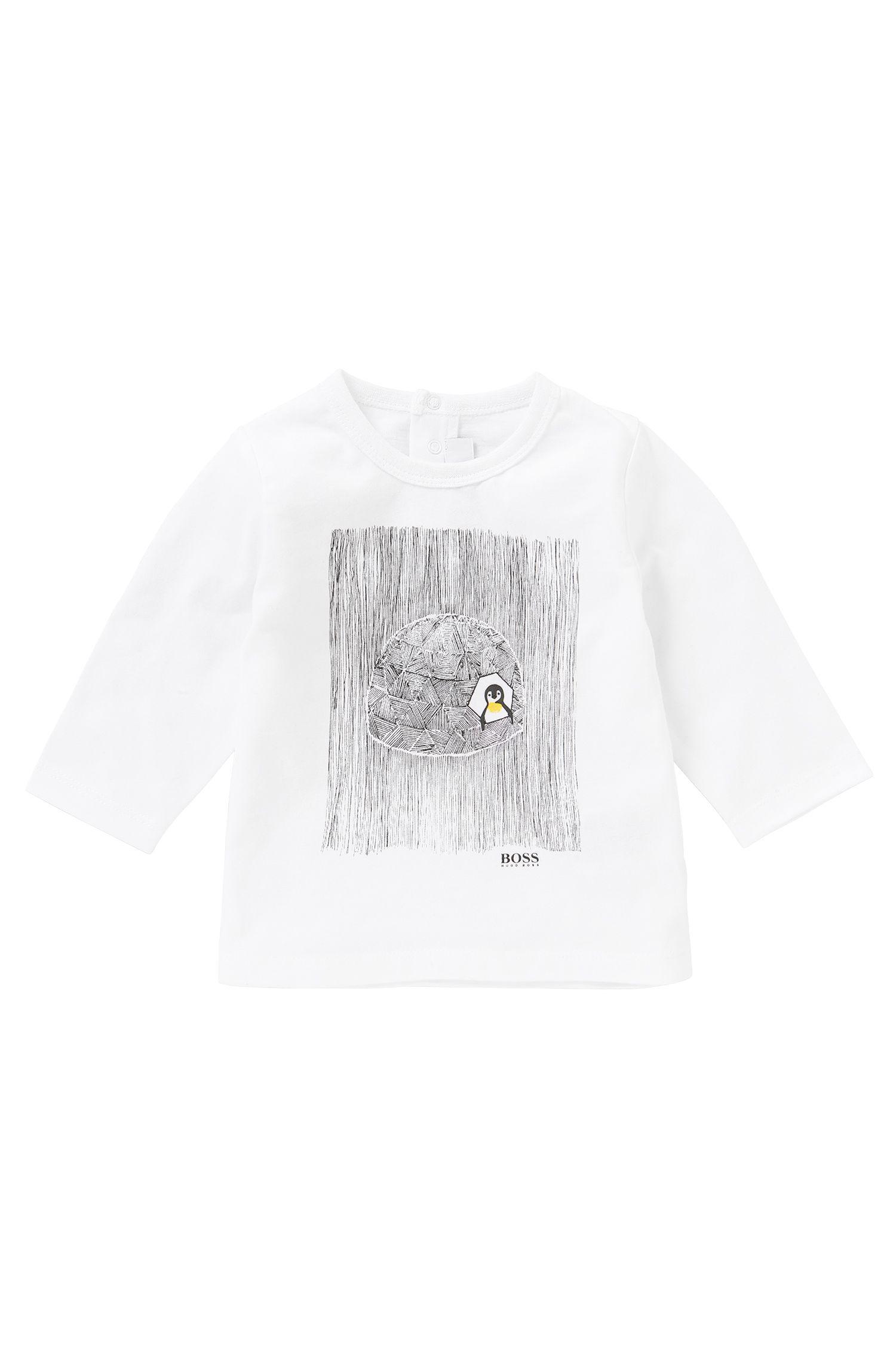 T-shirt à manches longues en coton imprimé: «J05396»