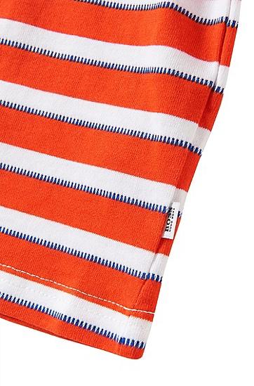 Gestreiftes Baby-Poloshirt aus Baumwolle: 'J05404', Orange