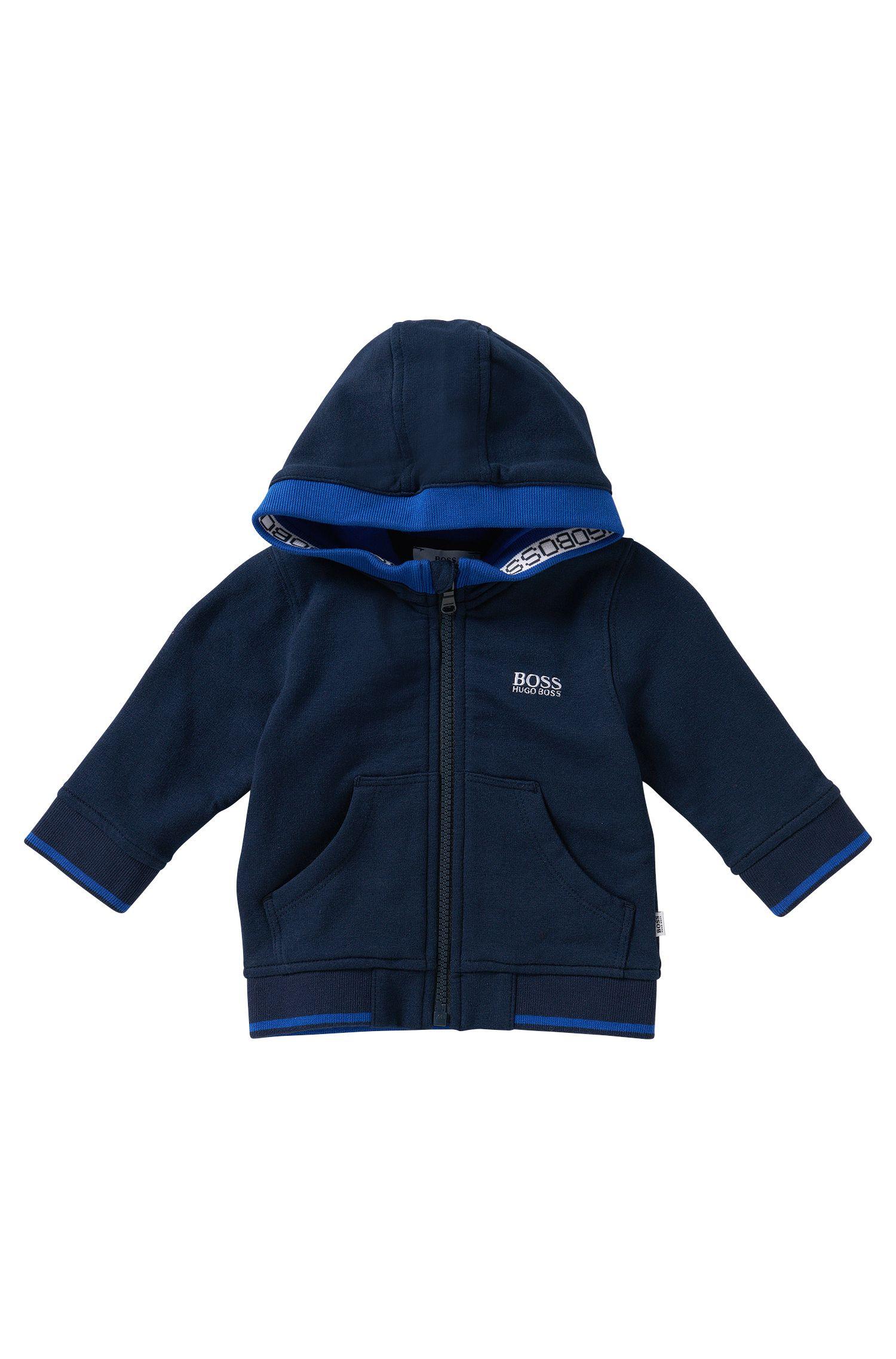 Blouson sweat-shirt à capuche pour enfant en coton mélangé: «J05410»