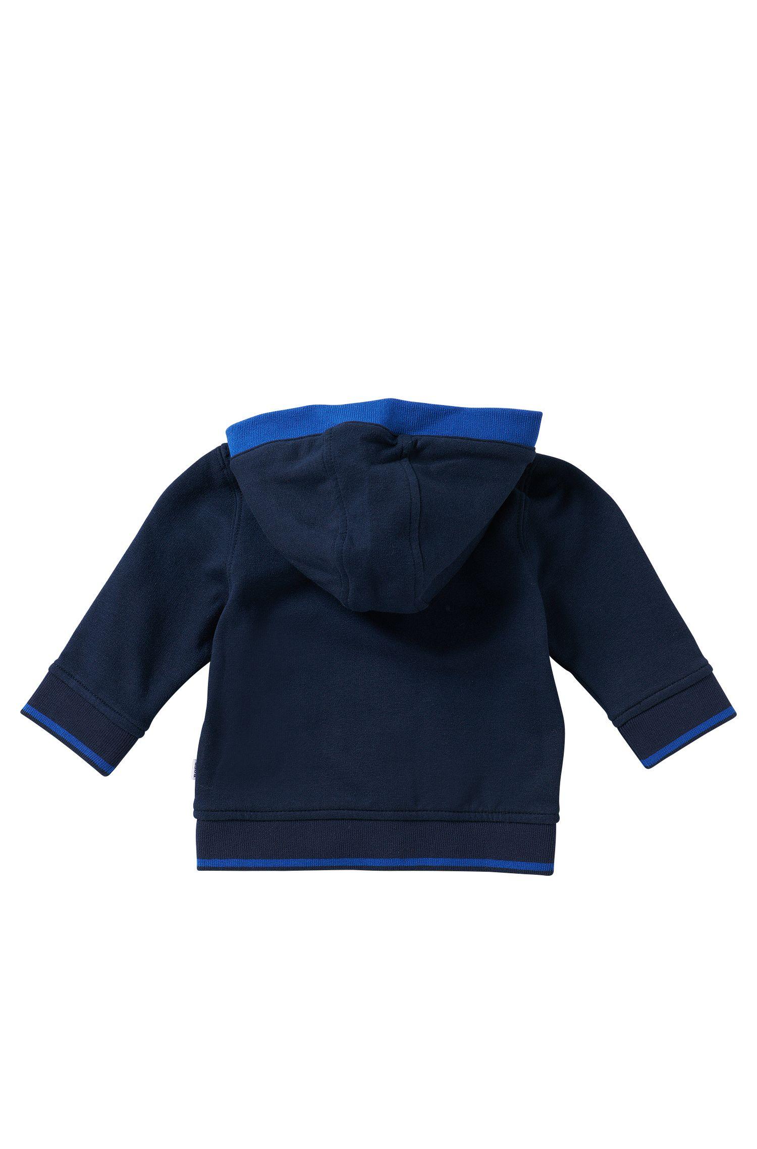 Kindersweatshirtjas met capuchon van een katoenmix: 'J05410'