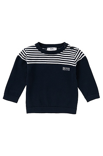Pullover aus Baumwolle: 'J05417', Dunkelblau