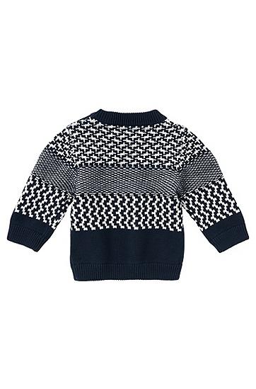 Pullover aus Baumwolle: 'J05420', Dunkelblau