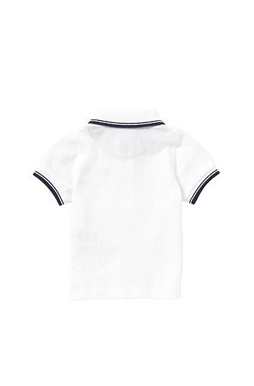 Baby-Poloshirt aus Baumwolle: 'J05440', Weiß