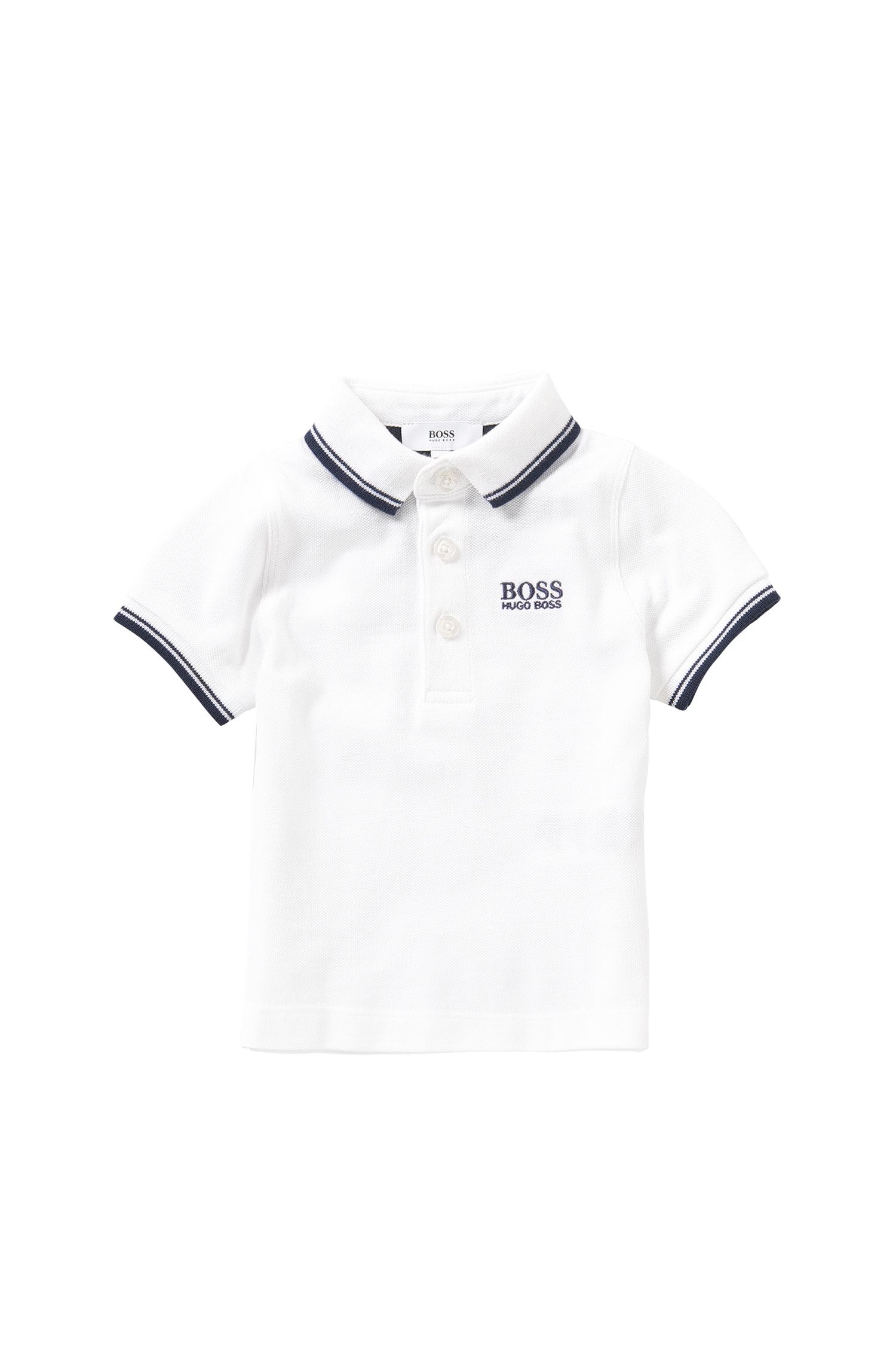 Newborn's polo shirt in cotton: 'J05440'