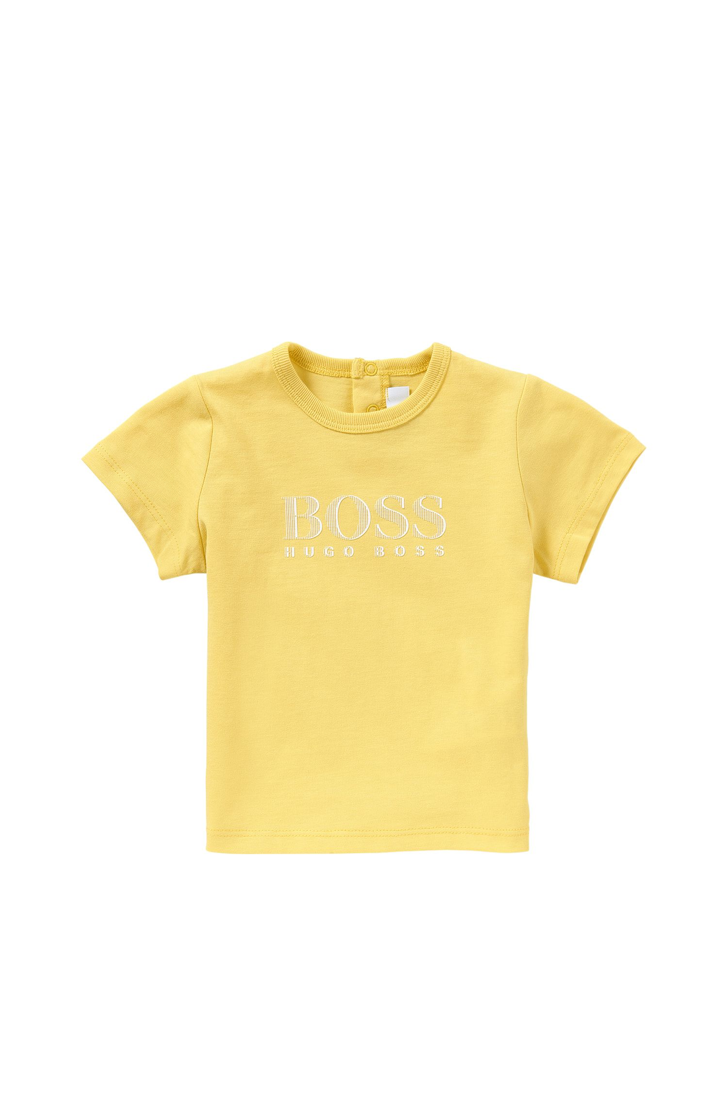 Newborn's t-shirt in cotton with printed front motif: 'J05453'