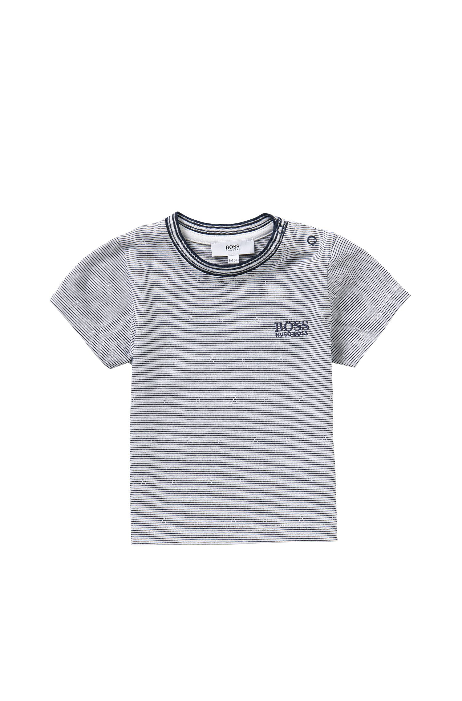 Striped newborns' t-shirt in cotton: 'J05455'