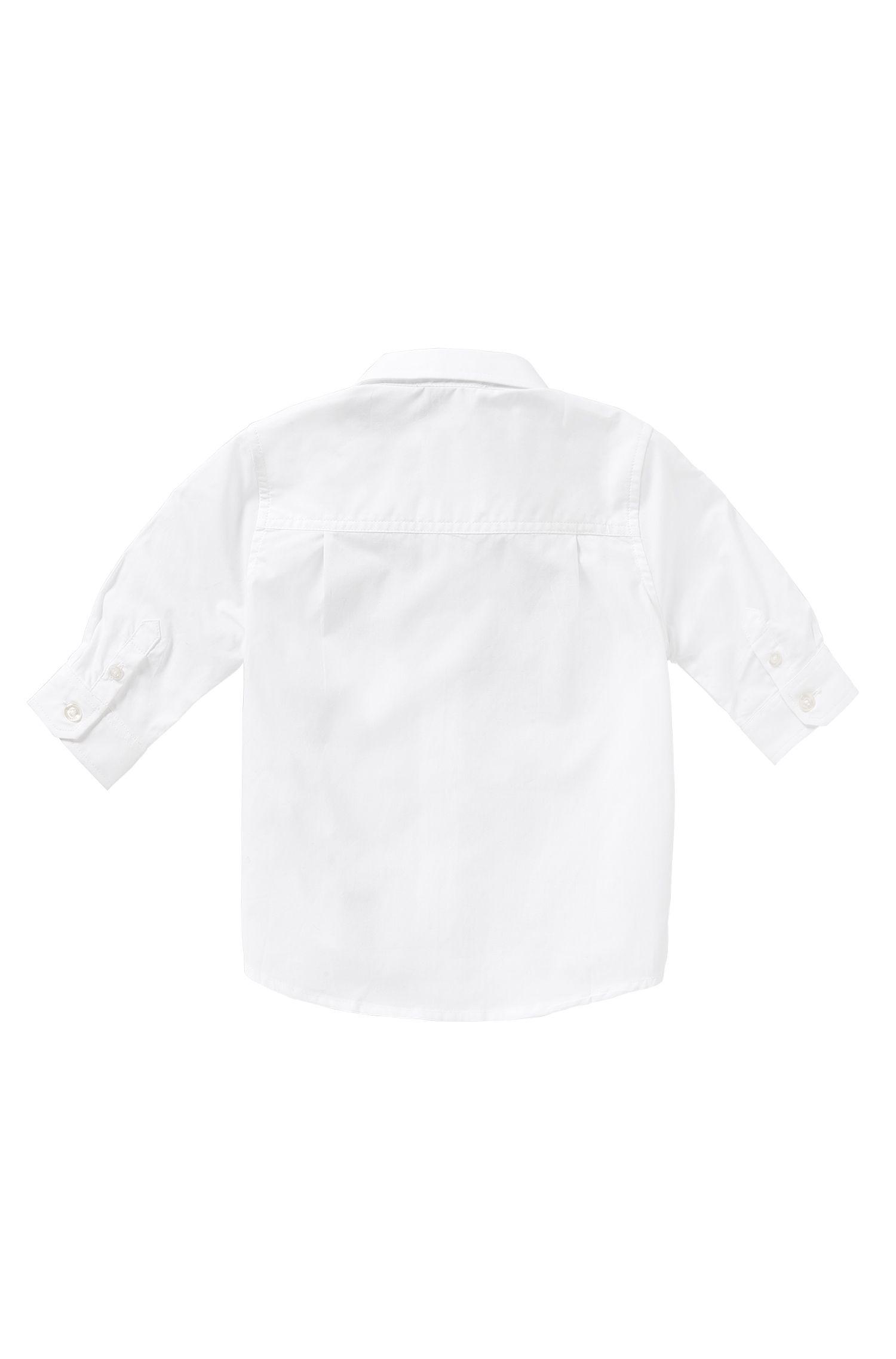 Chemise en coton pour bébés avec col à pointes boutonnées: «J05464»