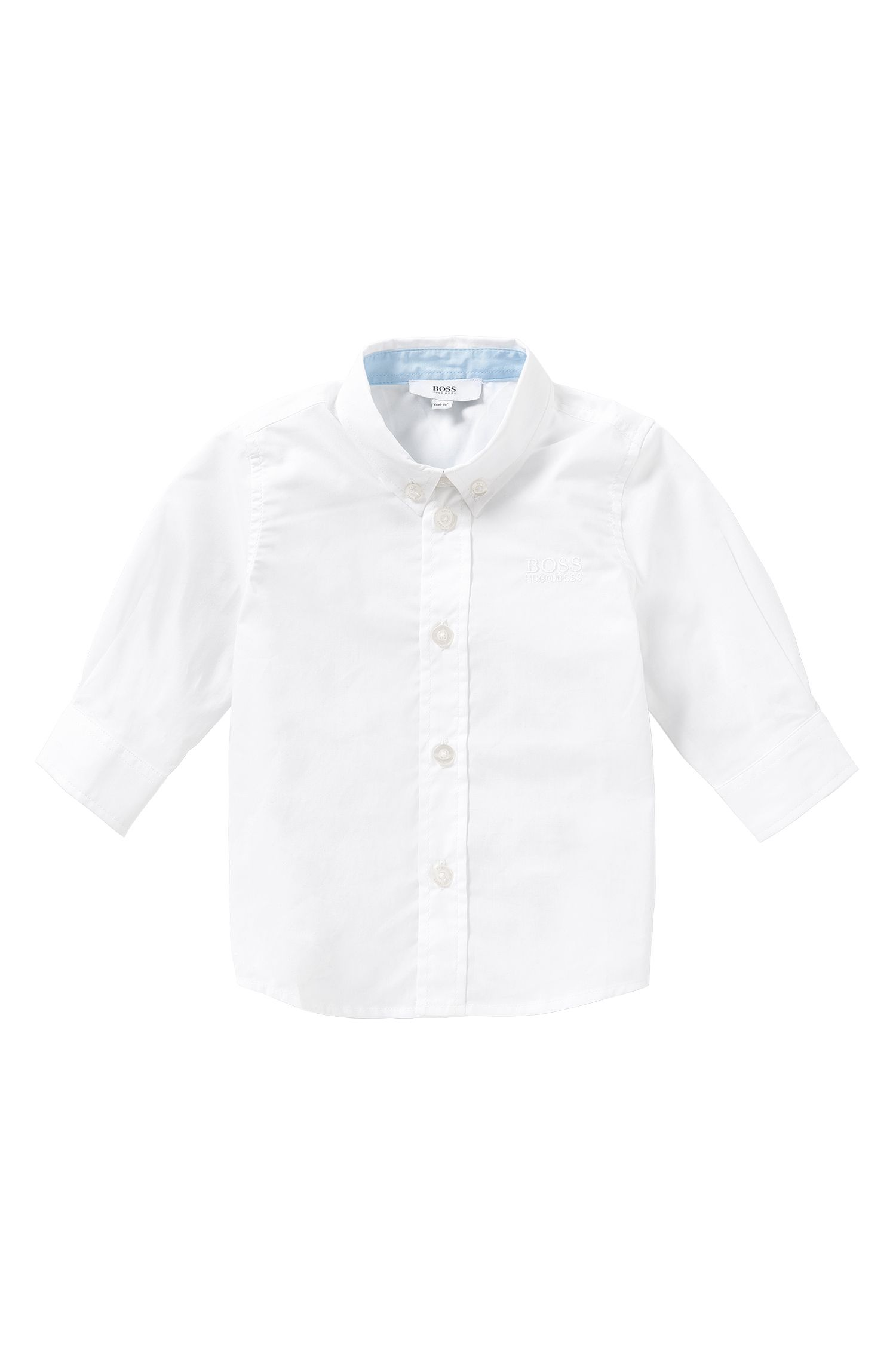 Newborn shirt in cotton with button-down collar: 'J05464'