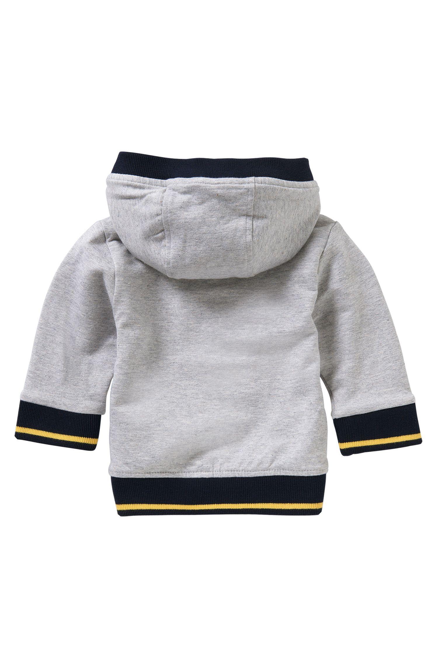 Blouson à capuche pour bébé en coton extensible: «J05468»