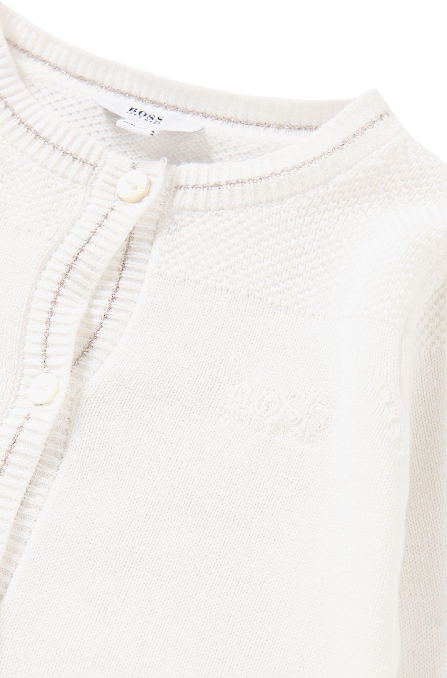 Unifarbene Baby-Strickjacke aus elastischer Baumwolle: 'J05481'