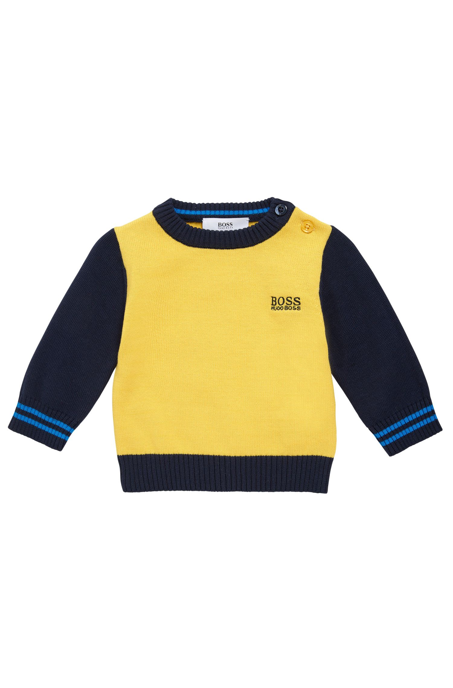 Baby's sweater in cotton in a multicoloured design: 'J05517'