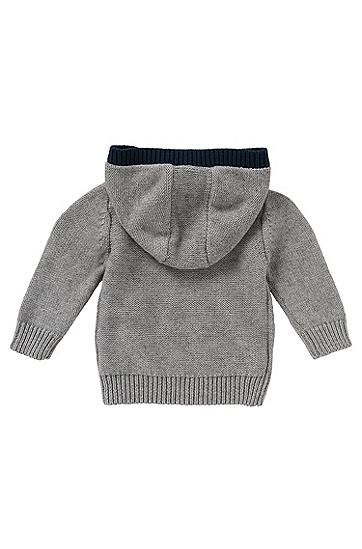 Strickjacke aus Baumwoll-Mix: 'J05T31', Grau