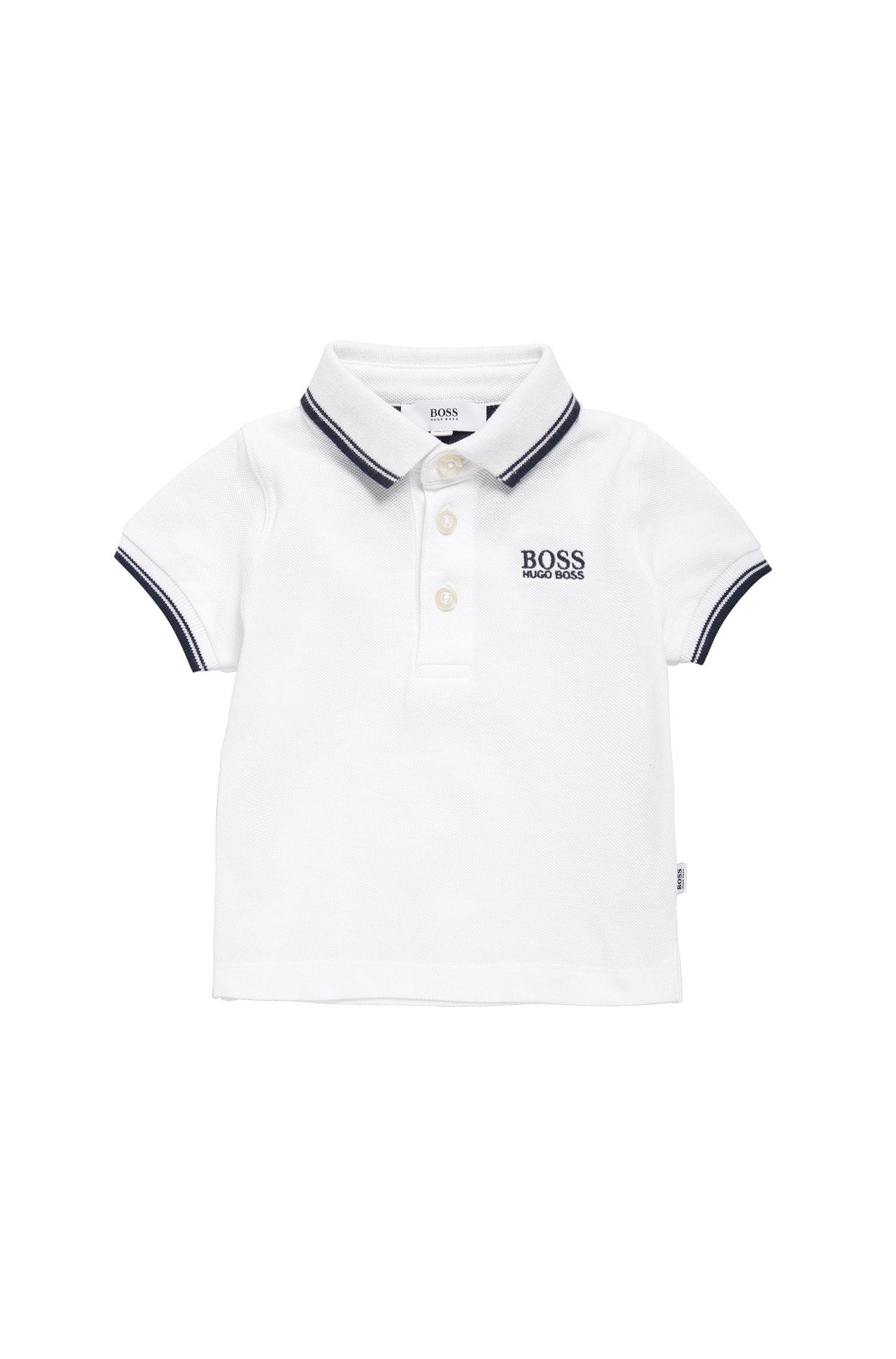 Baby-Poloshirt aus Baumwolle mit kurzen Ärmeln: 'J05V40'