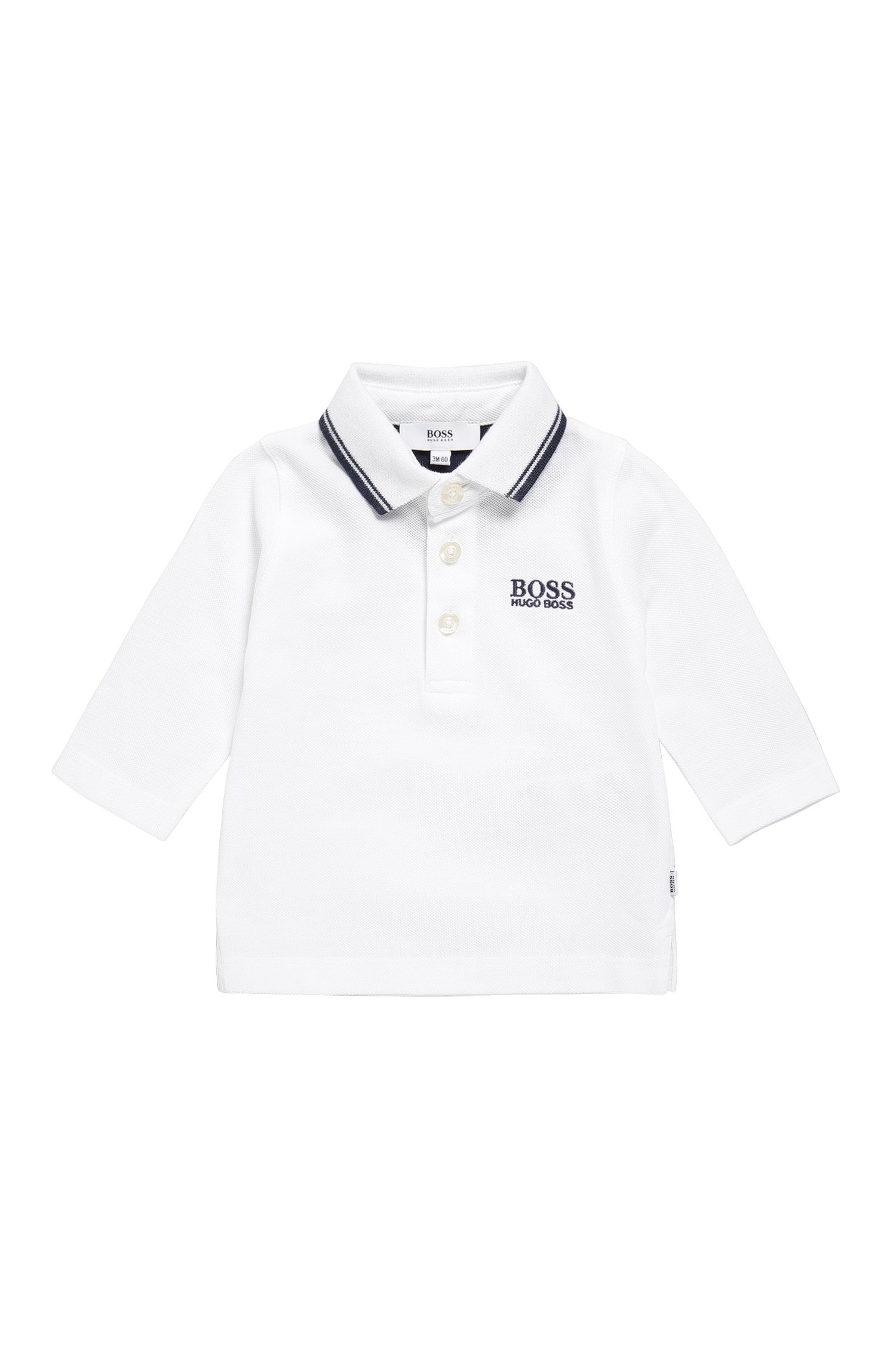Newborn polo shirt in cotton with long sleeves: 'J05V48'