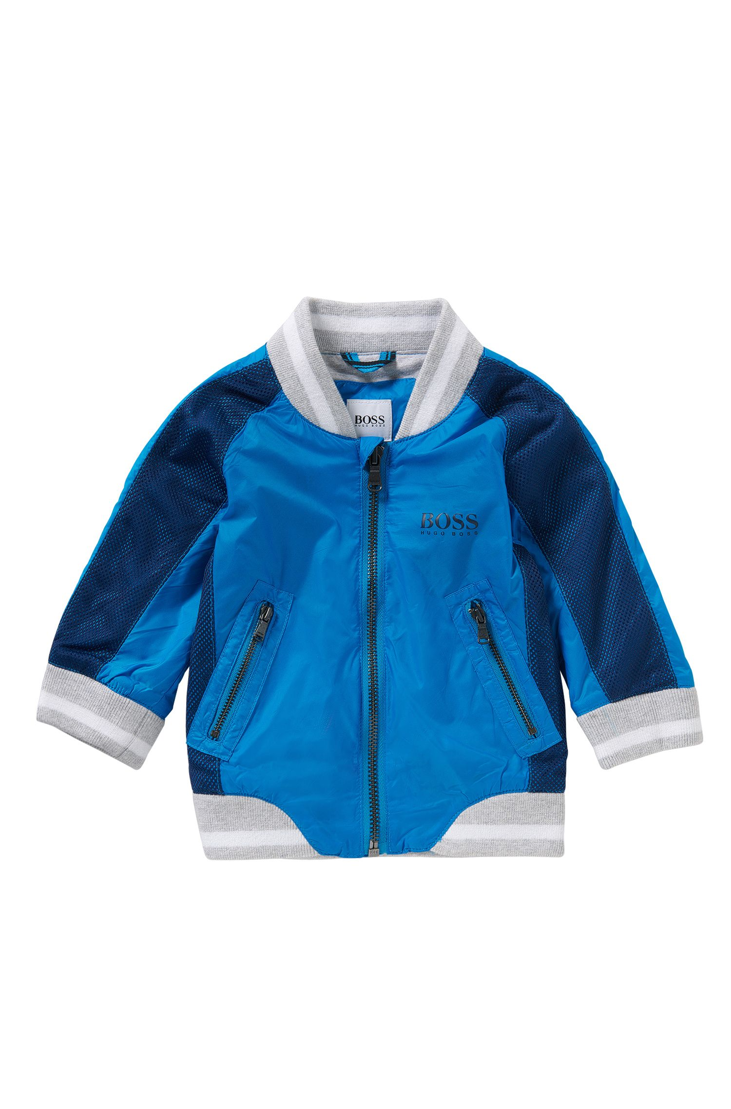 Newborns' jacket in college style: 'J06135'