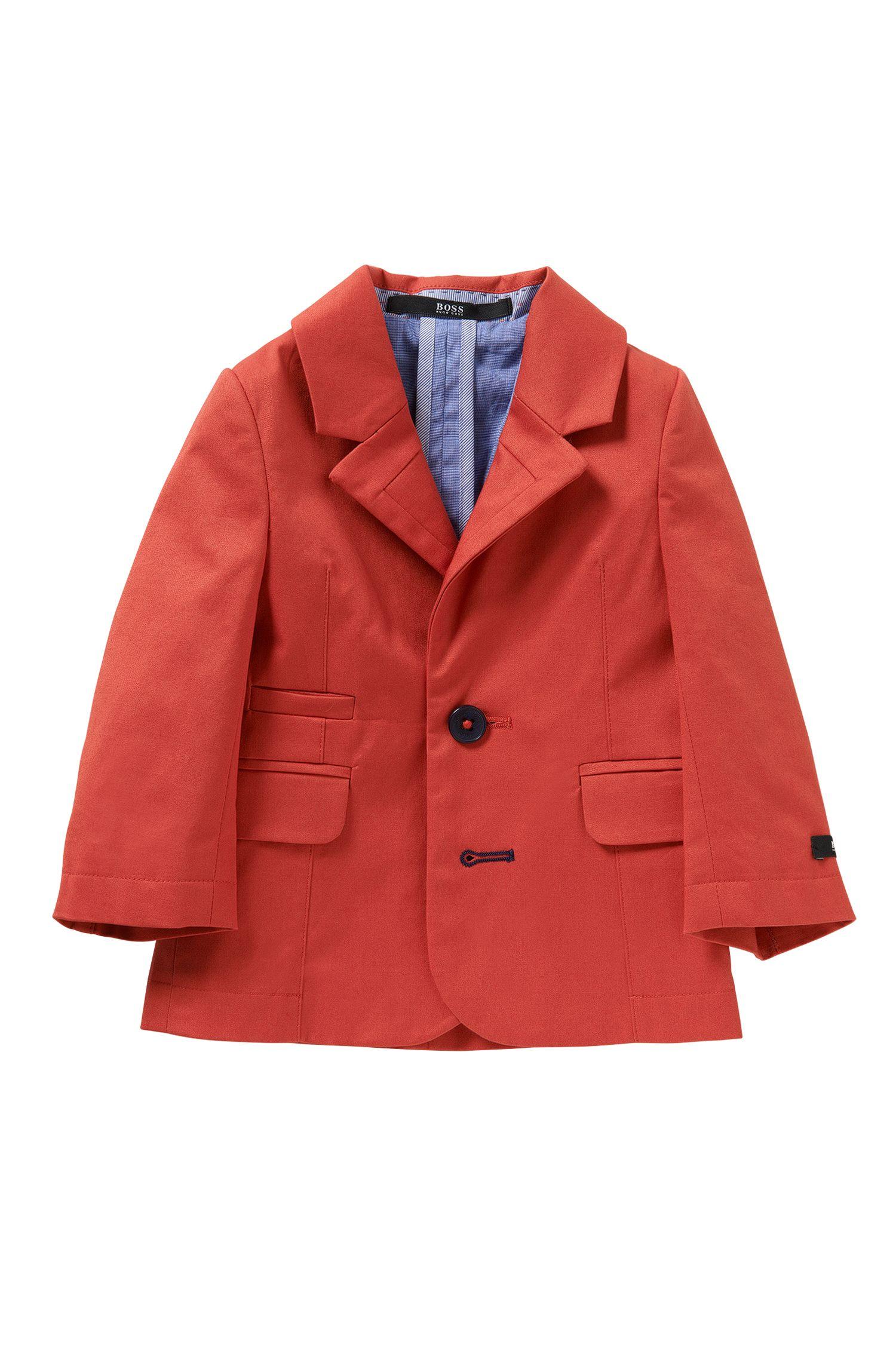 Plain-coloured newborns' jacket in stretch cotton: 'J06137'