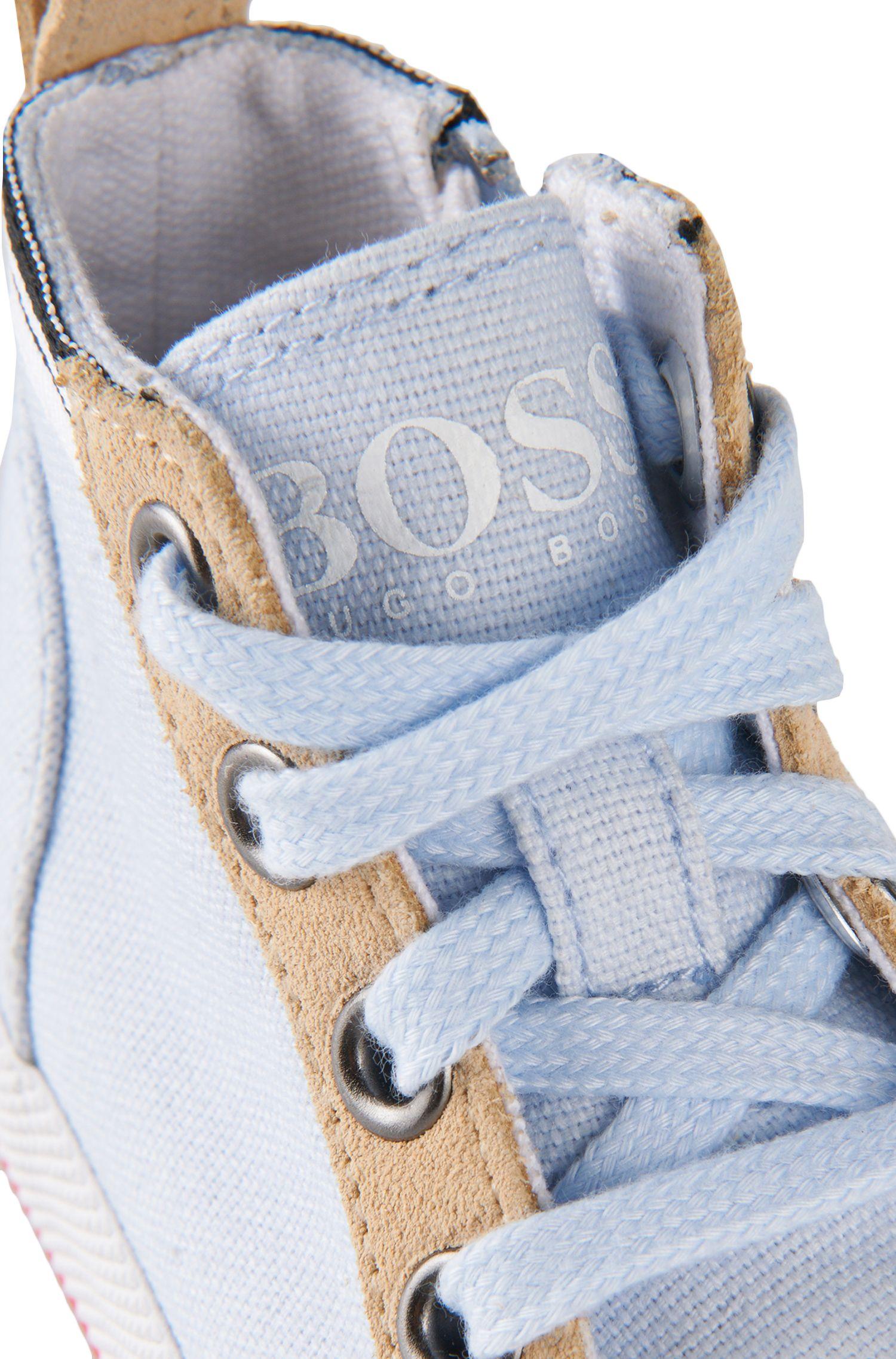 Chaussures de course avec détails en cuir: «J09064»