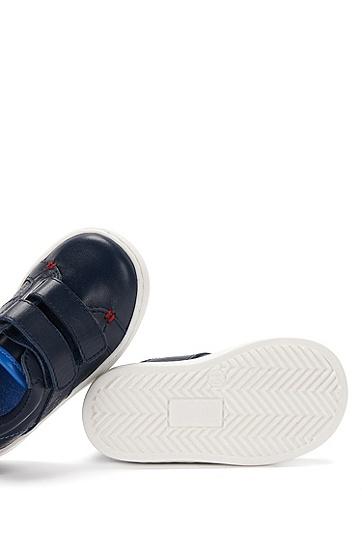 Baby-Schuhe aus Leder mit Kontrastsohle: 'J09081', Dunkelblau