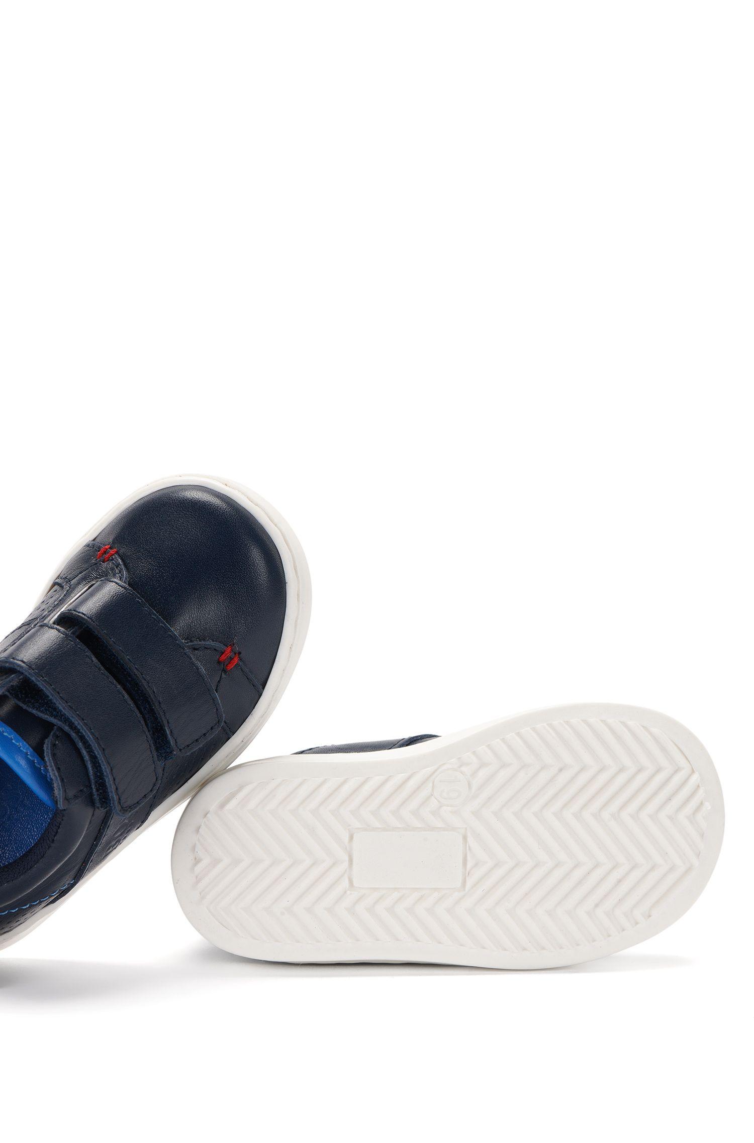 Babyschoenen van leer met contrastzool: 'J09081'