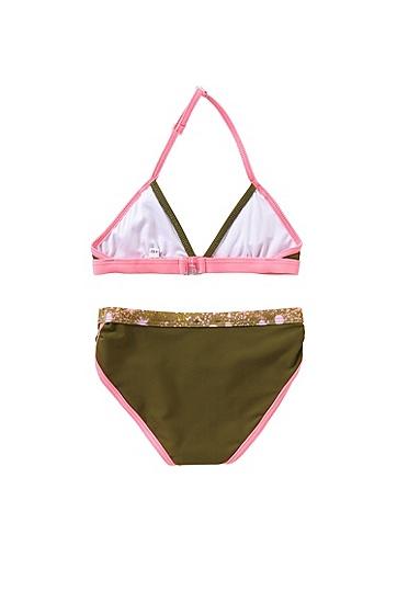 Kids-Bikini im Neckholder-Stil: 'J10096', Dunkelgrün